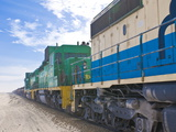 The Longest Iron Ore Train in the World Between Zouerate and Nouadhibou  Mauritania  Africa