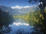 Lake Matheson  Mount Tasman and Mount Cook  Westland Tai Poutini National Park  New Zealand