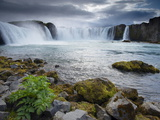 Godafoss Waterfall (Fall of the Gods)  Between Akureyri and Myvatn  (Nordurland)  Iceland