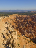 Sandstone Hoodoos in Bryce Amphitheater  Inspiration Point  Bryce Canyon National Park  Utah  USA