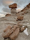 Balanced Rock in Plaza Blanca Badlands (The Sierra Negra Badlands)  New Mexico