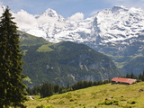 Jungfrau Massif From Murren  Jungfrau Region  Switzerland  Europe