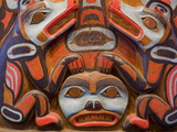 Tlingit Housepost in Sitka National Historical Park  Sitka  Baranof Island  Southeast Alaska  USA