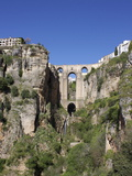 Tajo Gorge and New Bridge  Ronda  Malaga Province  Andalucia  Spain  Europe