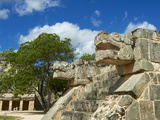 The Snake's Head in Ancient Mayan Ruins  Chichen Itza  UNESCO World Heritage Site  Yucatan  Mexico
