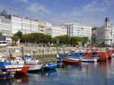 Fishing Boats in Darsena Marina  La Coruna City  Galicia  Spain  Europe