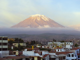 El Misti Volcano 5822M Above City  Arequipa  Peru  South America