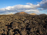 Irregular Blocky Lava and Cinder Cones of Timanfaya National Park  Canary Islands