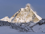 Mountain Scenery and Monte Cervino (The Matterhorn)  Cervinia  Valle D'Aosta  Italian Alps