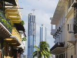 Modern Skyscrapers and Historical Old Town  UNESCO World Heritage Site  Panama City  Panama