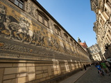 Frieze on the Long Walk  Dresden  Saxony  Germany  Europe