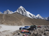 Gorak Shep Lodges  Kala Pattar and Pumori  7165M  Sagarmatha National Park  Himalayas