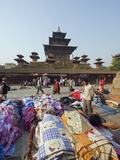 Street Market and Temple at Durbar Square  Kathmandu  Nepal  Asia