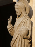 Sculpture of the Risen Christ Holding the World  Saint-Corentin Cathedral  Brittany  France