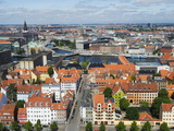 Panoramic City View  Copenhagen  Denmark  Scandinavia  Europe
