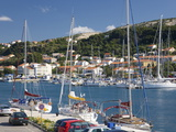 Yachts Moored in the Harbour  Rab Town  Island of Rab  Primorje-Gorski Kotar  Croatia  Europe