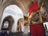 Canvas By Rubens in Onze Lieve Vrouwekathedraal  Antwerp  Flanders  Belgium  Europe