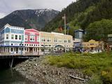 Stores on People's Wharf  Juneau  Southeast Alaska  USA