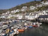 Harbour  Polperro  Cornwall  England  United Kingdom  Europe