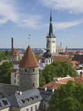 Rooftop View With Church of the Holy Ghost  Tallin  Estonia  Europe