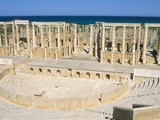 Theatre  Leptis Magna  UNESCO World Heritage Site  Tripolitania  Libya  North Africa  Africa