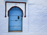 Blue Doorway  Chefchaouen  Morocco  North Africa  Africa