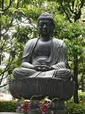 Meditating Buddha Statue  Tokyo  Japan  Asia