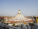 Boudha Stupa (Chorten Chempo)  Boudhanath  Kathmandu  Nepal  Asia