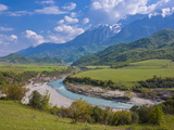 Landscape in the Southeast Area  Albania  Europe