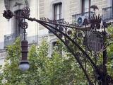 Modernista Lampost on Passeig De Gracia  Barcelona  Catalonia  Spain  Europe
