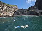 Snorkeling at Vincente Roca Point on Isla Isabela  Galapagos Islands  UNESCO Heritage Site  Ecuador