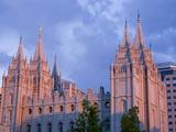 Mormon Temple in Temple Square  Salt Lake City  Utah  United States of America  North America