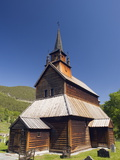 Stave Church Dating From 1184 at Kaupanger  Western Norway  Norway  Scandinavia  Europe