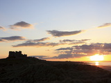 Sunset  Bamburgh Castle  Bamburgh  Northumberland  England  United Kingdom  Europe