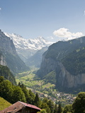 Jungfrau Massif Above Lauterbrunnen  Jungfrau Region  Switzerland  Europe