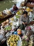 Damnoen Saduak Floating Market  Bangkok  Thailand  Southeast Asia  Asia