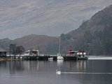 Steamer  Glenridding Pier  Ullswater  Lake District National Park  Cumbria  England  United Kingdom