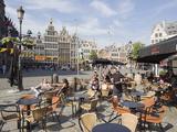 Outdoor Cafe  Grote Markt  Antwerp  Flanders  Belgium  Europe