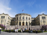Stortinget Parliament Building  Oslo  Norway  Scandinavia  Europe