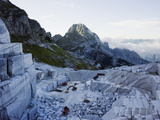 Blocks Being Cut in a Marble Quarry Used By Michaelangelo  Apuan Alps  Tuscany  Italy  Europe
