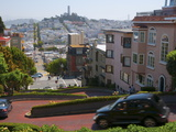 Lombard Street  the Crookedest Street in the World  San Francisco  California