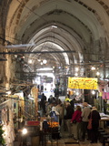 Marketplace in Covered Alleyway in the Arab Sector  Old City  Jerusalem  Israel  Middle East
