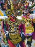 Masked Performers in a Parade at Oruro Carnival  Oruro  Bolivia  South America