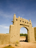 Main Gate to Djenne Djenno Hotel  in Djenne  Mali  West Africa  Africa