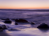 Rocks and Beach at Sunset  La Jolla  San Diego County  California  USA