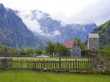 Lock-In Tower in Thethi in the Albanian Alps  Albania  Europe
