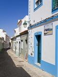 Narrow Street in Ferragudo Fishing Village  Portimao City  Algarve  Portugal  Europe