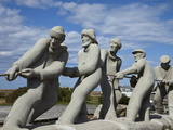 Sculpture of Fishermen on Island in the Gulf of St Lawrence  Iles De La Madeleine  Quebec