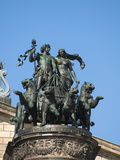 Statue Outside Opera House  Dresden  Saxony  Germany  Europe