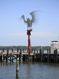 Morning Call Sculpture  9/11 Memorial of An Osprey on a Perch Made From Beams From the WTC
